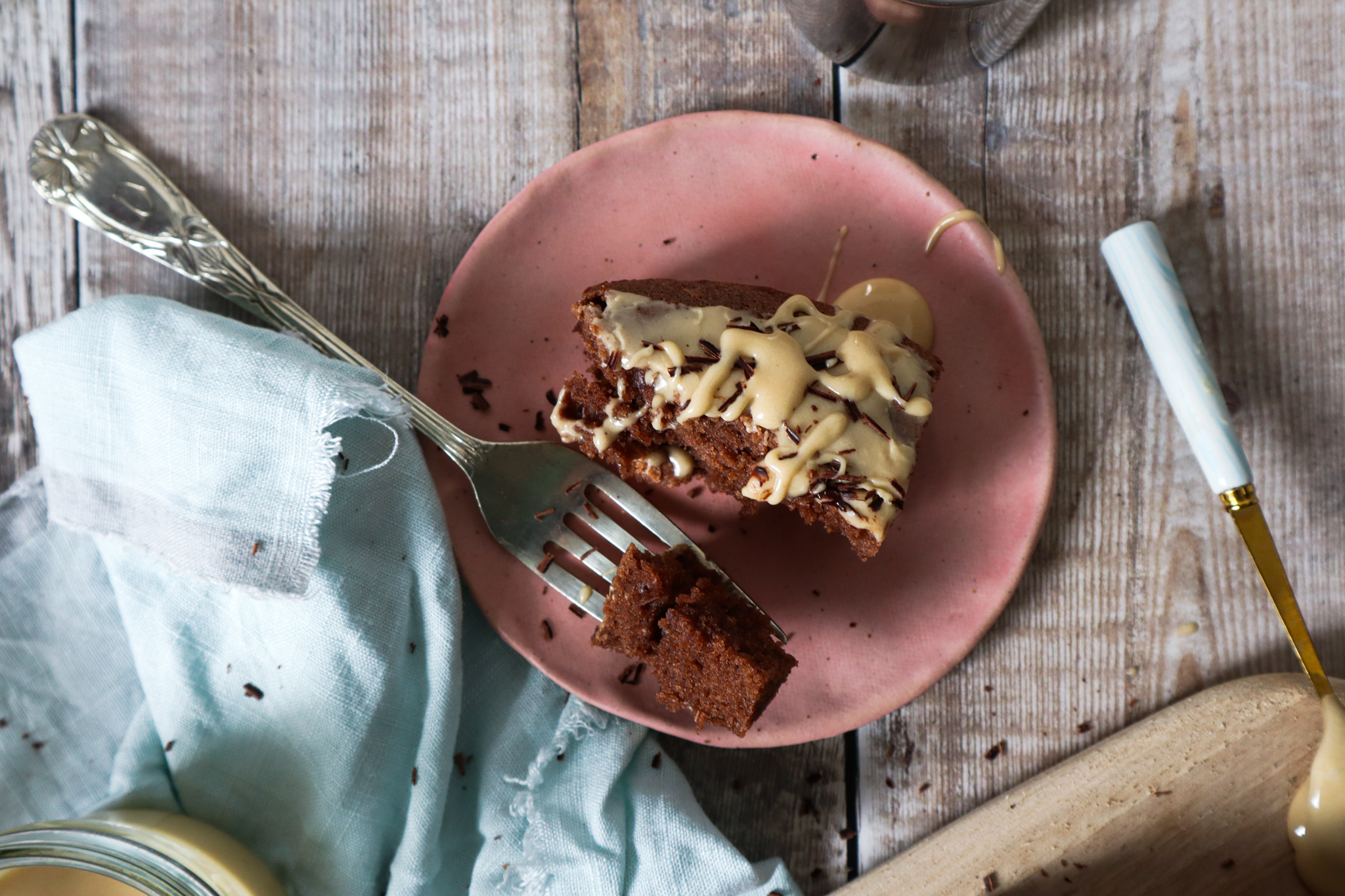 Chocolate cake with espresso glaze